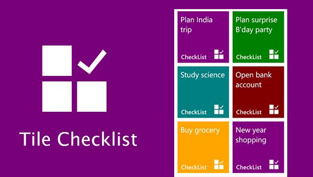 Tile checklist check your start screen for reminders for Tile planner app